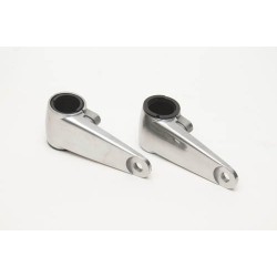 Polished Metal Headlight Brackets with Shim Set