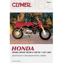 Clymer Manual XR50R, CRF50F, XR70R and CRF70F, 1997-2009