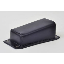 Plain Black Leather Wedge Style Pillion Pad