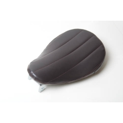 Bates Style Tuck and Roll Brown Vinyl Solo Seat